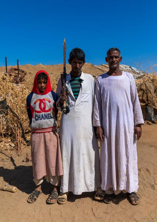 Portrait of Rashaida tribe men, Kassala State, Kassala, Sudan