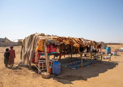 Traditional tent of the Rashaida tribe, Kassala State, Kassala, Sudan