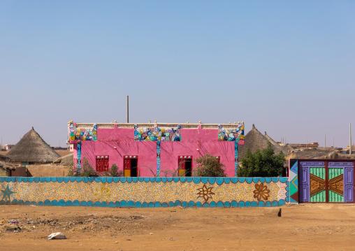 Rashaida tribe pink house, Kassala State, Kassala, Sudan