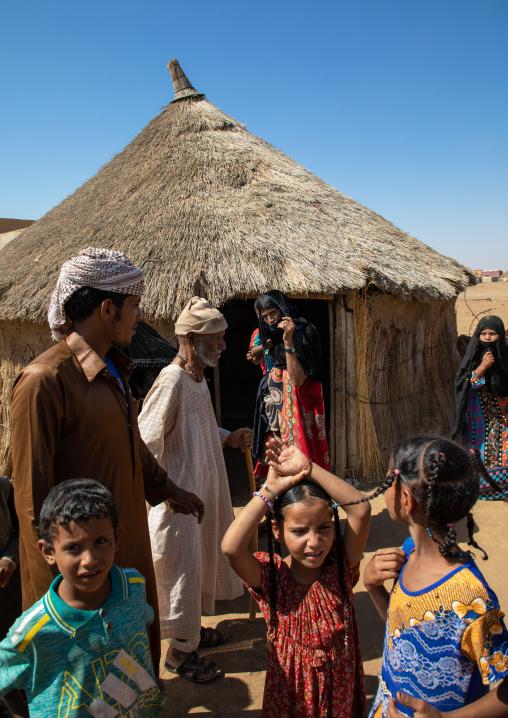 Rashaida people in their village, Kassala State, Kassala, Sudan