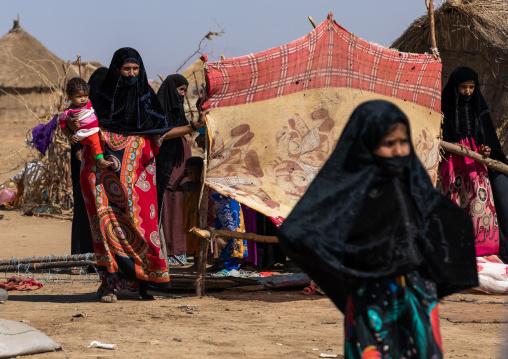Rashaida women in their village, Kassala State, Kassala, Sudan