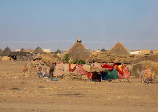 Rashaida tribe traditional houses, Kassala State, Kassala, Sudan