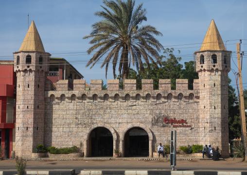 Fake castle hosting topkapi turkish restaurant, Khartoum State, Khartoum, Sudan