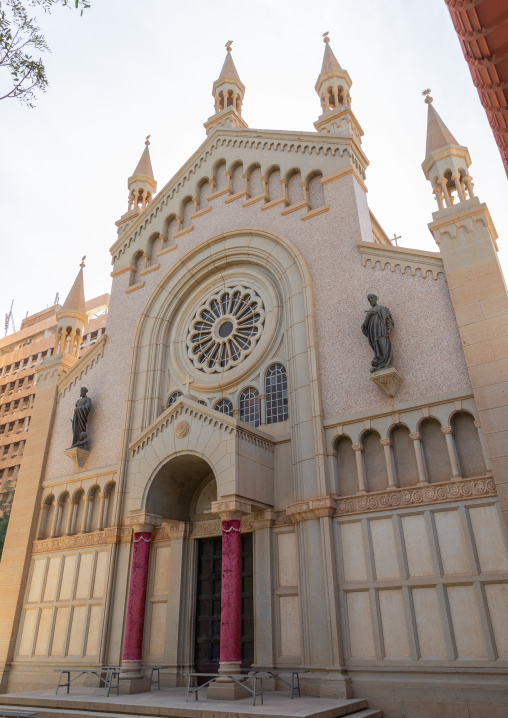St Matthew cathedral facade built by italian architects, Khartoum State, Khartoum, Sudan