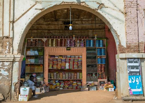 Shop under an arcade in the market, Khartoum State, Omdurman, Sudan