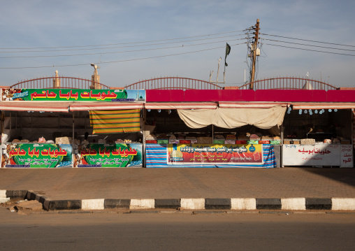 Shops along the road, Khartoum State, Khartoum, Sudan