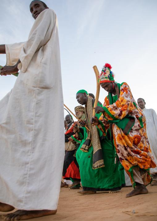 Friday sufi celebration at sheikh Hamad el Nil tomb, Khartoum State, Omdurman, Sudan