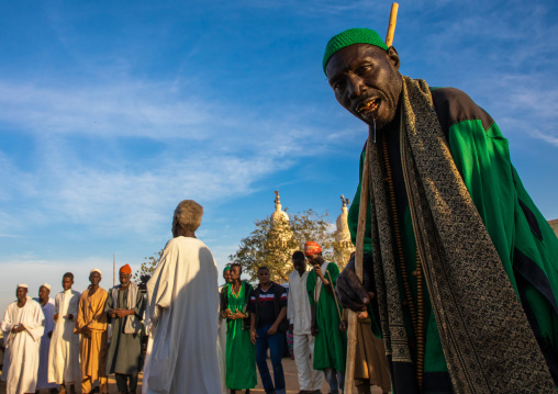 Friday sufi celebration at sheikh Hamad el Nil tomb, Khartoum State, Omdurman, Sudan
