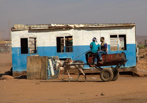Sudanese men transporting water on a cart, Khartoum State, Omdurman, Sudan
