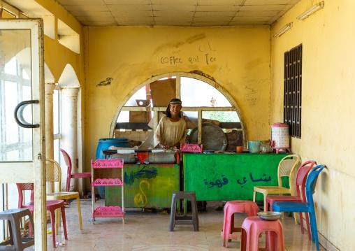 Chef cooking in a local restaurant, Khartoum State, Khartoum, Sudan