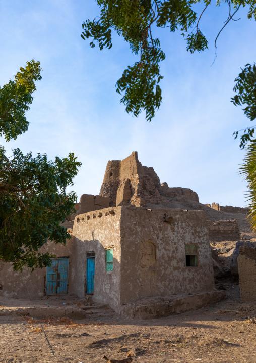 Old mudbrick houses, Northern State, Al-Khandaq, Sudan