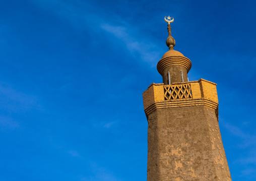 Al-Hassanab mosque against the sky, Northern State, Al-Khandaq, Sudan