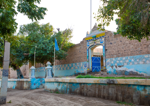 Old decorated ottoman house turned into a police station, Northern State, Al-Khandaq, Sudan