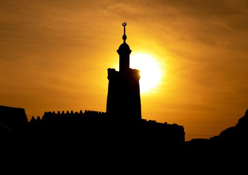 Sunset on al-hassanab mosque, Northern State, Al-Khandaq, Sudan