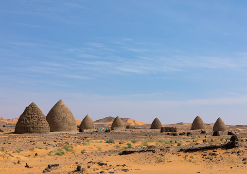 Beehive tombs, Nubia, Old Dongola, Sudan