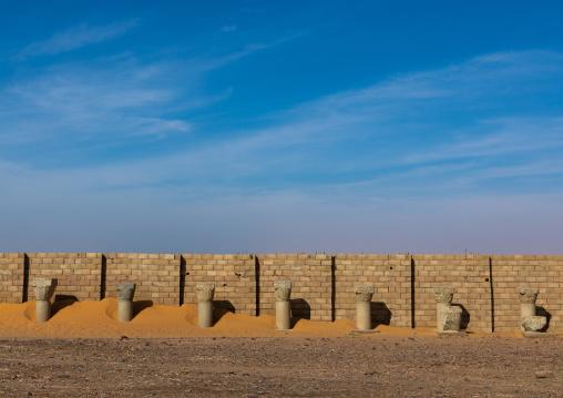 Granite columns, Nubia, Old Dongola, Sudan