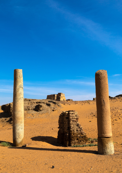 Ruins of the church of the granite columns, Nubia, Old Dongola, Sudan