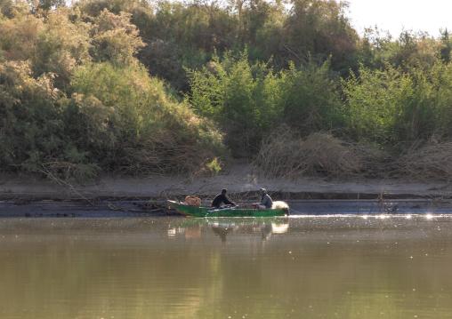 Fishermen on river Nile, Northern State, El-Kurru, Sudan