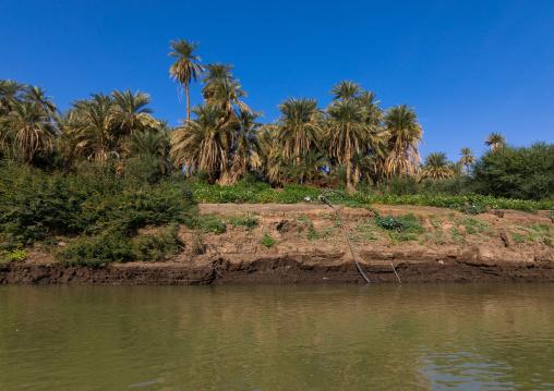 Water pump on the bank of river Nile, Northern State, El-Kurru, Sudan