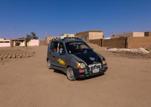 Small car used as taxi, Northern State, El-Kurru, Sudan