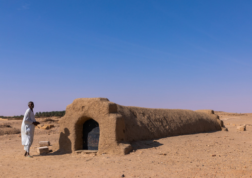 Tomb entrance in the royal cemetery, Northern State, El-Kurru, Sudan