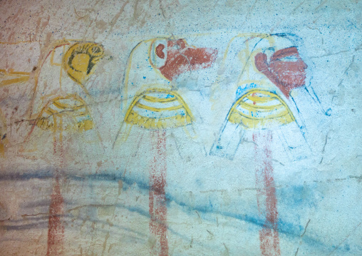 Mural in the funeral chamber, Northern State, El-Kurru, Sudan