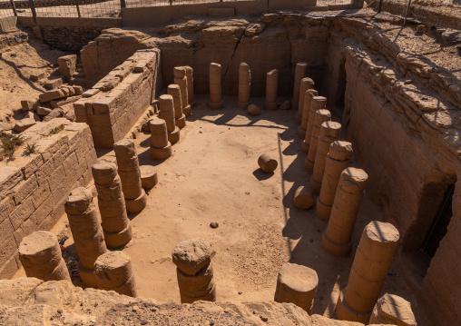 Excavations of columns of an old temple, Northern State, El-Kurru, Sudan