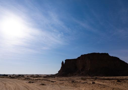 Holy mountain of jebel Barkal, Northern State, Karima, Sudan