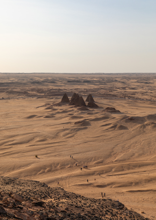 The meroitic pyramids of jebel Barkal, Northern State, Karima, Sudan