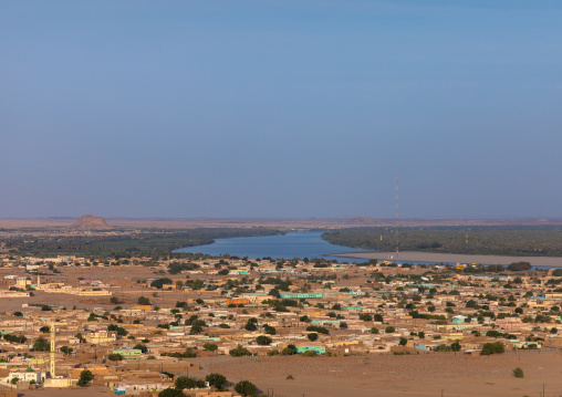 Nile river seen from the top of jebel Barkal, Northern State, Karima, Sudan