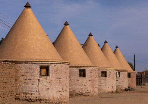 Houses built by english for the train station workers during colonial times, Northern State, Karima, Sudan