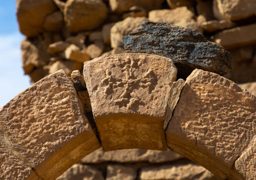 Occitan cross in al Ghazali christian monastery, Northern State, Wadi Abu Dom, Sudan