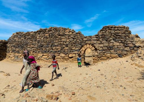 Sudanese children in al Ghazali christian monastery, Northern State, Wadi Abu Dom, Sudan