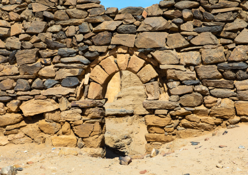 Gate in al Ghazali christian monastery, Northern State, Wadi Abu Dom, Sudan