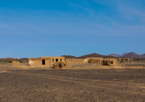 Bedouin village in Bayoda desert, Northern State, Bayuda desert, Sudan