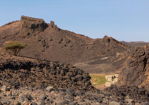 Atrun crater where nomads come to collect salt, Bayuda desert, Atrun, Sudan