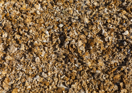 Salt collected in Atrun crater, Bayuda desert, Atrun, Sudan