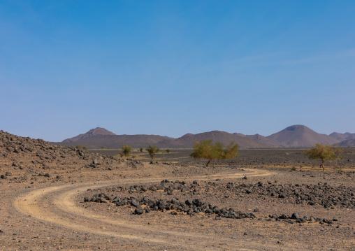 Off road in the desert, Bayuda desert, Atrun, Sudan