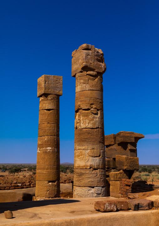 Amun temple columns, Nubia, Naqa, Sudan