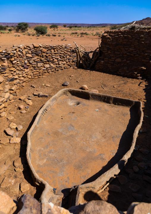 Dry water reservoir for animals, Nubia, Naqa, Sudan