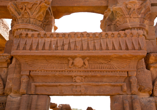 Sacred Uraeus cobras on the roman kiosk, Nubia, Naqa, Sudan
