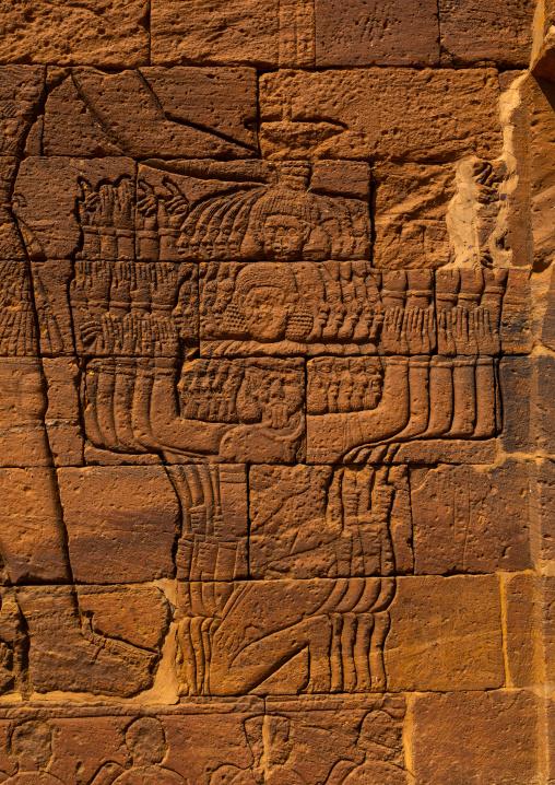 Lion temple of Apedemak relief, Nubia, Naqa, Sudan