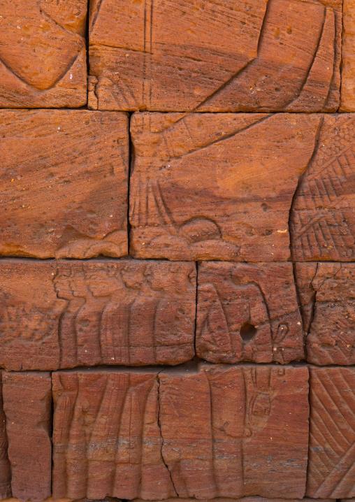 Lion temple of Apedemak relief depicting slaves, Nubia, Naqa, Sudan