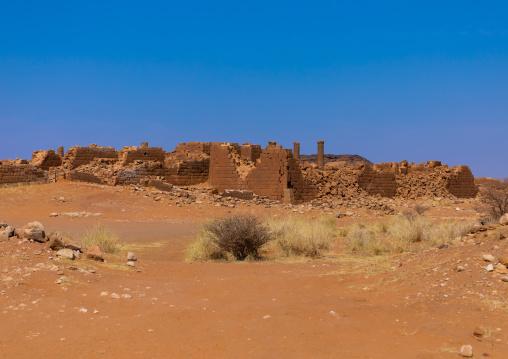Central terrace in the great enclosure in Musawwarat es-sufra meroitic temple complex, Nubia, Musawwarat es-Sufra, Sudan