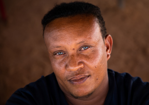 Portrait of a sudanese man with clear eyes, Khartoum State, Khartoum, Sudan