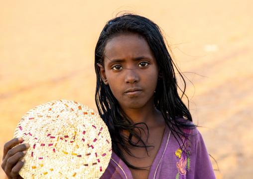 Portrait of a sudanese girl, Northern State, Meroe, Sudan