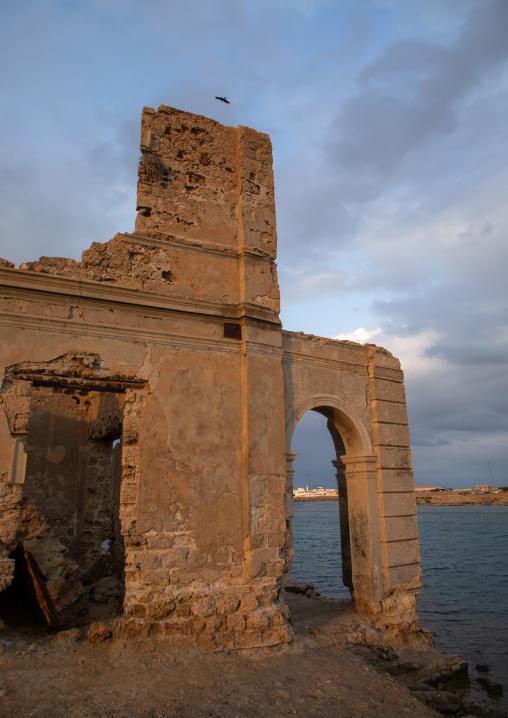 Ruined ottoman coral buildings, Red Sea State, Suakin, Sudan