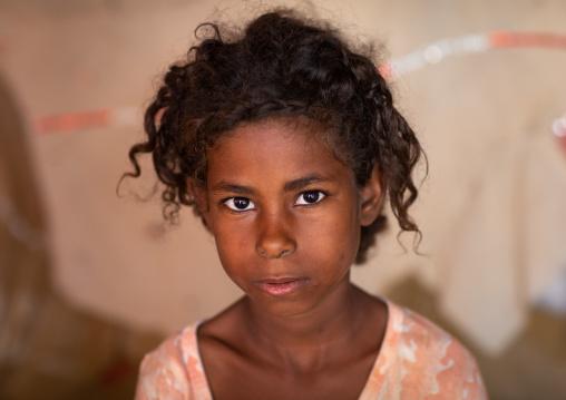 Portrait of a Beja tribe girl, Red Sea State, Port Sudan, Sudan
