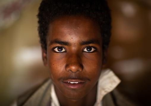 Portrait of a Beja tribe boy, Red Sea State, Port Sudan, Sudan