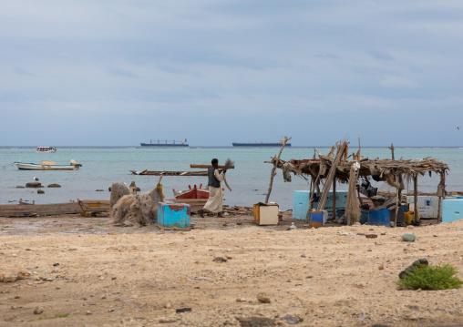 Local coffee on the beach, Red Sea State, Port Sudan, Sudan